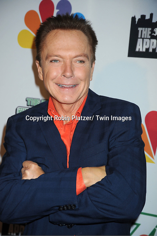 "David Cassidy  posing for photographers at ""The Celebrity Apprentice"".Season Four Finale Party on May 22, 2011 at The Trump Soho Hotel in New York City."
