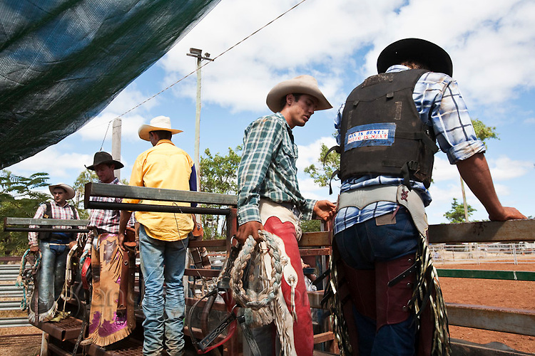 Cowboys at the Chillagoe Rodeo.  Chillagoe, Queensland, Australia