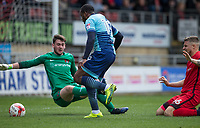 Myles Weston of Wycombe Wanderers goes through to score his goal during the Sky Bet League 2 match between Leyton Orient and Wycombe Wanderers at the Matchroom Stadium, London, England on 1 April 2017. Photo by Andy Rowland.