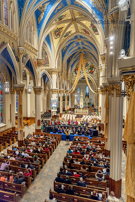April 21, 2018; Handbell Choir concert (Photo by Matt Cashore/University of Notre Dame)