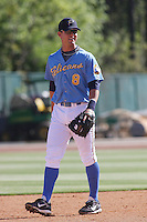 Brandon Hicks of the Myrtle Beach Pelicans vs. the Frederick Keys at BB&T Coastal Field in Myrtle Beach, SC on April 11, 2008