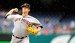 1 May 2011: San Francisco Giants pitcher Matt Cain in action against the Washington Nationals at Nationals Park in Washington, District of Columbia. The Nationals defeated the Giants 5-2. Mandatory Credit: Ed Wolfstein Photo