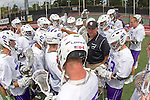 Orange, CA 05/16/15 - Coach Manny Rapkin brings the Grand Canyon players together in a huddle before the start of the 2015 MCLA Division I Championship game at Chapman University in Orange, California.
