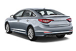 Car pictures of rear three quarter view of a 2015 Hyundai Sonata 2.4 Auto Limited 4 Door Sedan angular rear