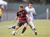 Stanford, Ca - Friday, August 24, 2018: Stanford Men's soccer team vs San Jose State.
