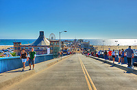 Santa Monica Ca, Pier Entrance Ramp, Pacific Park, Ca, Santa Monica Pier, Amusements, Roller Coaster,Ferris Wheel, Over Water, mix of stores, restaurants, Beautiful, United States of America, North America Ferris Wheel,