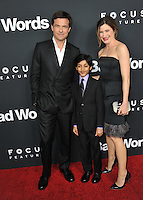 Jason Bateman (left), Kathryn Hahn &amp; Rohan Chand at the Los Angeles premiere of their movie &quot;Bad Words&quot; at the Cinerama Dome, Hollywood.<br /> March 5, 2014  Los Angeles, CA<br /> Picture: Paul Smith / Featureflash