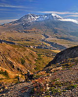 Mt St Helens from Johnston Ridge in Mt St Helens National Volcanic Monument, Washington