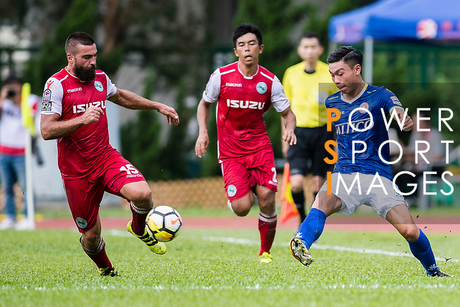 Marc Martinez of Kwoon Chung Southern (L) in action against Yiu Kwok of Rangers of Rangers (R) during the Premier League, week two match between Kwoon Chung Southern and BC Rangers at on September 09, 2017 in Hong Kong, China. Photo by Marcio Rodrigo Machado / Power Sport Images