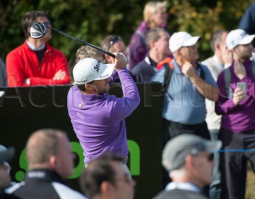 17.10.2014. The London Golf Club, Ash, England. The Volvo World Match Play Golf Championship.  Day 3 group stage matches.  Graeme McDowell (NIR)  sixth tee.