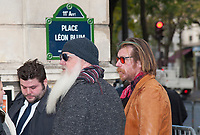 November 13 2017, PARIS FRANCE<br /> the President of France Emmanuel Macron<br /> honors the victims of the 13 november 2015<br /> in the scenes of attacks. Eagles of Death<br /> Metal leave the place of Commerations. # HOMMAGE AUX VICTIMES DES ATTENTATS DU 13 NOVEMBRE 2015