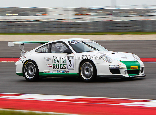 Steve Goldman (3) in action during the V8 Supercars and the Porsche GT3 Cup cars practice sessions at the Circuit of the Americas race track in Austin,Texas. ..