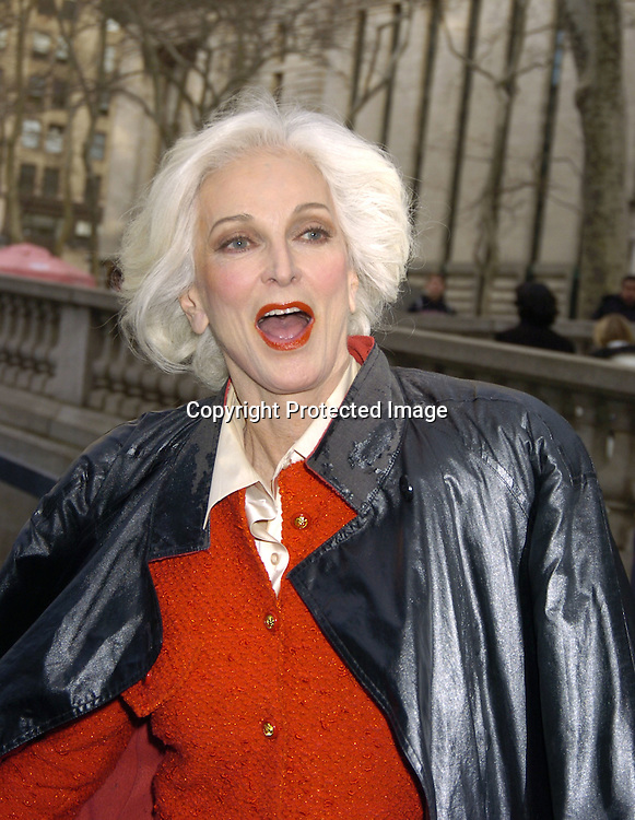 Carmen dell Orifice ..at The Heart Truth's Red Dress Collection at the Olympus..Fashion Week in Bryant Park on February 4, 2005...Photo by Robin Platzer, Twin Images