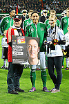 29.02.2012, Weser Stadion, Bremen, nph00045, JI1F6490, im Bild Mesut Oezil (8, Deutschland) bei der Ehrenverleihung<br /> <br /> // during the Match nph00045, JI1F6490,  Weser Stadion, Bremen, Germany, on 2012/02/29<br /> Foto © nph / Sielski *** Local Caption ***