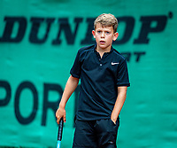 Hilversum, Netherlands, Juli 31, 2019, Tulip Tennis center, National Junior Tennis Championships 12 and 14 years, NJK, Boys Doubles: Tygo Bikker (NED) <br /> Photo: Tennisimages/Henk Koster