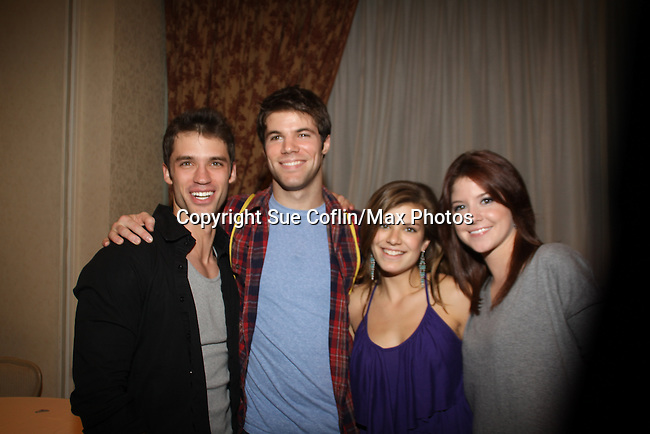 David Gregory, Nic Robuck, Kelley Missal, Brittany Underwood at The One Life To Live Lucheon at the Hemsley Hotel in New York City, New York on October 9, 2010. (Photo by Sue Coflin/Max Photos)