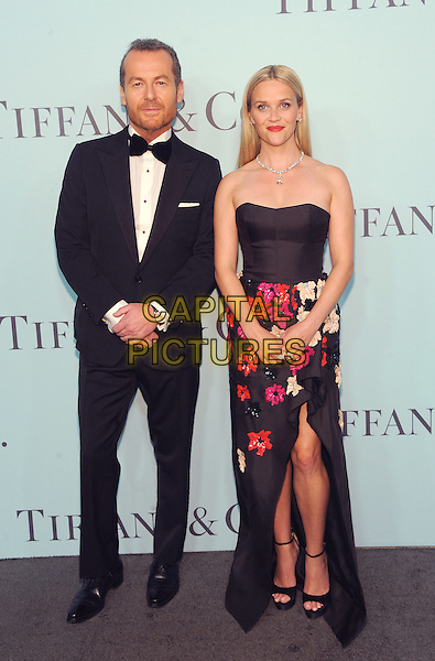 New York, New York- April 15: Reese Whiterspoon  and Frederic Cumenal, CEO Tiffany &amp; Co,  attends the Tiffany &amp; Co 2016 Blue Book event at the Cunard Building on April 15, 2016 in New York City.  <br /> CAP/MPI/STV<br /> &copy;STV/MPI/Capital Pictures