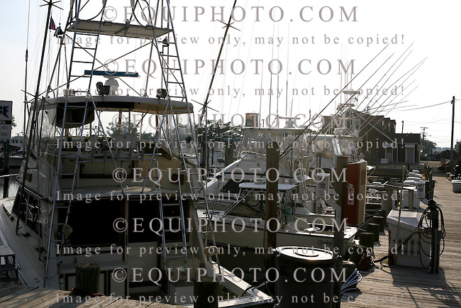 Fishing boats docked in Point Pleasant, New Jersey. Photo By Bill Denver/EQUI-PHOTO