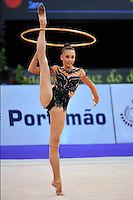 Viktoriya Shynkarenko of Ukraine (junior) performs at 2010 World Cup at Portimao, Portugal on March 11, 2010.  (Photo by Tom Theobald).