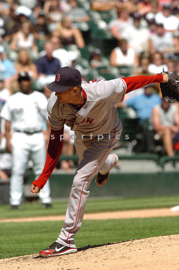 JULIAN TAVAREZ, of the Boston Red Sox, in action during the Red Sox game against the Chicago White Sox  in Chicago on August 26, 2007.  The Red Sox won the game 11-1...........
