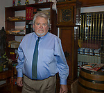 Richard Hill, a lawyer in Reno, Nevada, stands in his office on June 25, 2018. Hill, who donated the rare footage to the FDR library, is the grandson of Fred Hill, the Reno rancher who shot the film of FDR.