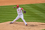 1 April 2013: Washington Nationals closing pitcher Rafael Soriano on the mound in the 9th inning of the Nationals' Opening Day Game against the Miami Marlins at Nationals Park in Washington, DC. The Nationals shut out the Marlins 2-0 to launch the 2013 season. Mandatory Credit: Ed Wolfstein Photo *** RAW (NEF) Image File Available ***