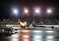 Jul 29, 2016; Sonoma, CA, USA; NHRA top fuel driver Tony Schumacher during qualifying for the Sonoma Nationals at Sonoma Raceway. Mandatory Credit: Mark J. Rebilas-USA TODAY Sports