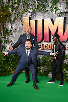 Jack Black, Dwayne Johnson and Kevin Hart<br /> arriving for the &quot;Jumanji: Welcome to the Jungle&quot; premiere at the Vue West End, Leicester Square, London<br /> <br /> <br /> &copy;Ash Knotek  D3358  07/12/2017