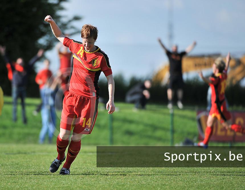 Belgium - Ukraine : Lien Mermans scoorde de 1-0<br /> foto DAVID CATRY / Nikonpro.be