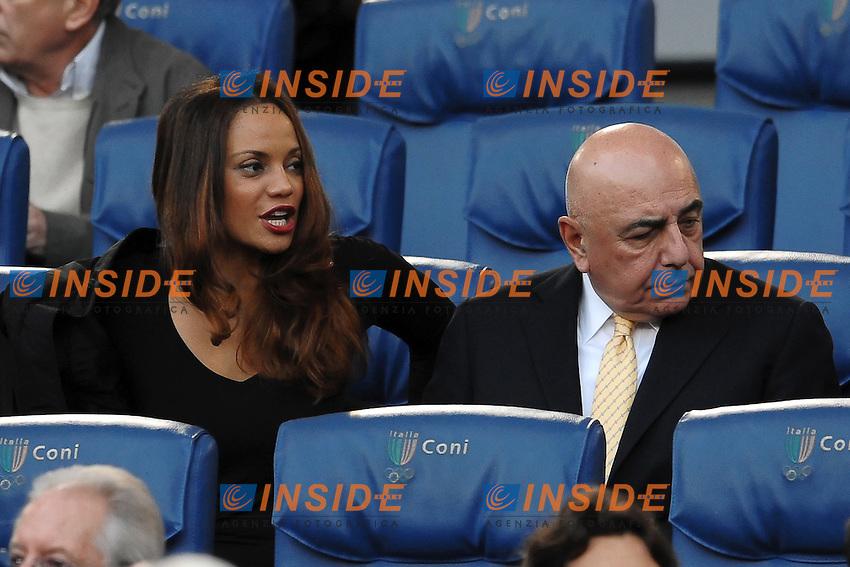 "Adriano Galliani and his girlfriend Helga Gosta.Roma 29/10/2011 Stadio ""Olimpico"".Football Calcio Serie A 2011/2012 .Roma Vs Milan.Foto Insidefoto Andrea Staccioli"