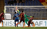 Calcio, Serie A: Roma, stadio Olimpico, 19 marzo, 2017<br /> Sassuolo's Gr&eacute;goire Defrel scores during the Italian Serie A football match between Roma and Sassuolo at Rome's Olympic stadium, March 19, 2017<br /> UPDATE IMAGES PRESS/Isabella Bonotto