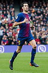 Sergio Busquets Burgos of FC Barcelona reacts during the La Liga 2017-18 match between FC Barcelona and Getafe FC at Camp Nou on 11 February 2018 in Barcelona, Spain. Photo by Vicens Gimenez / Power Sport Images