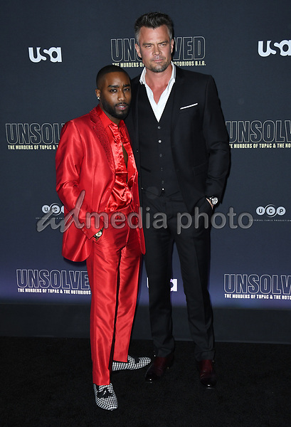 "22 February 2018 - Hollywood, California - Marcc Rose, Josh Duhamel. USA Network's ""Unsolved: The Murders of Tupac & The Notorious B.I.G."" held at Avalon Hollywood. Photo Credit: Birdie Thompson/AdMedia"