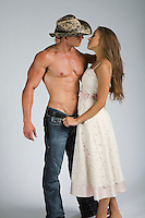 Western cowboy and Native American woman interracial themed Romance Novel cover stock photographs by Jenn LeBlanc for Illustrated Romance
