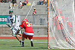 San Diego, CA 05/21/11 - Hunter Corpus (Coronado #29) and Riley Sanchez (Cathedral Catholic #32) in action during the 2011 CIF San Diego Section Division 2 Varsity Lacrosse Championship between Cathedral Catholic and Coronado.