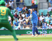 June 18th 2017, The Kia Oval, London, England;  ICC Champions Trophy Cricket Final; India versus Pakistan; Rohit Sharma of India is trapped LBW without score