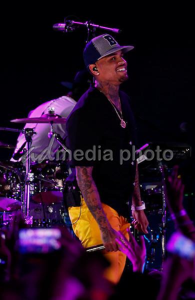 30 May 2015 - Las Vegas, Nevada -  Chris Brown.  iHeartRadio Summer Pool Party at Caesars Palace.  Photo Credit: MJT/AdMedia