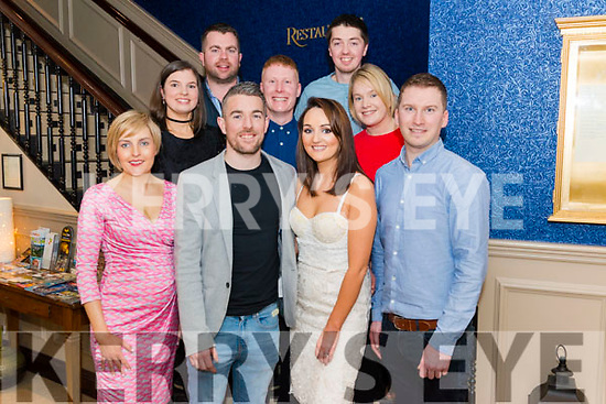 Jason Foley from Beaufort celebrated his 30th birthday with front l-r Bride Sheehan from Killorglin, Cliodhna Foley from Beaufort and John Sheehan from Killorglin, back l-r Jennifer O'Connor, Robert Costello, James Sheehan, Lan O'Connor and Niamh Walsh all from Killorglin in the Lord Kenmare restaurant, Killarney last Saturday night.