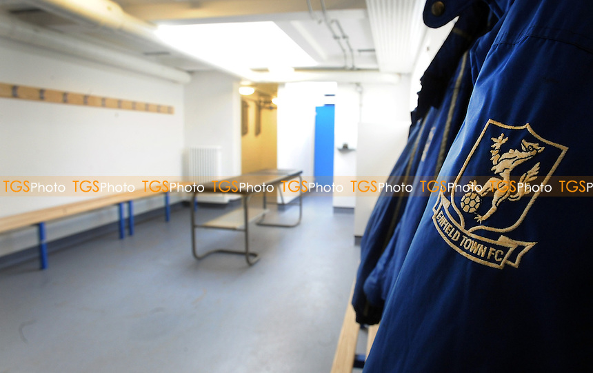 The home team dressing room - Enfield Town vs Tottenham Hotspur XI - A match to celebrate the official opening of Enfield Town Football Club's new ground, The Queen Elizabeth Stadium - 16/11/11- MANDATORY CREDIT: Anne-Marie Sanderson/TGSPHOTO - Self billing applies where appropriate - 0845 094 6026 - contact@tgsphoto.co.uk - NO UNPAID USE.