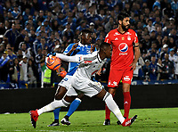 BOGOTA - COLOMBIA - 11 - 03 - 2017: Carlos Bejarano, portero de America, en acción, durante partido de la fecha 9 entre Millonarios y America de Cali, por la Liga Aguila I-2017, jugado en el estadio Nemesio Camacho El Campin de la ciudad de Bogota. / Carlos Bejarano, goalkeeper of America in action during a match between Millonarios and America de Cali, of the date 9 for the Liga Aguila I-2017 played at the Nemesio Camacho El Campin Stadium in Bogota city, Photo: VizzorImage / Luis Ramirez / Staff.