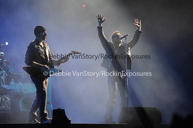U2 performs during the U2 360° Tour at The Anaheim Stadium in Anaheim, California on June 17,2011                                                                   Copyright 2011  DVS / RockinExposures