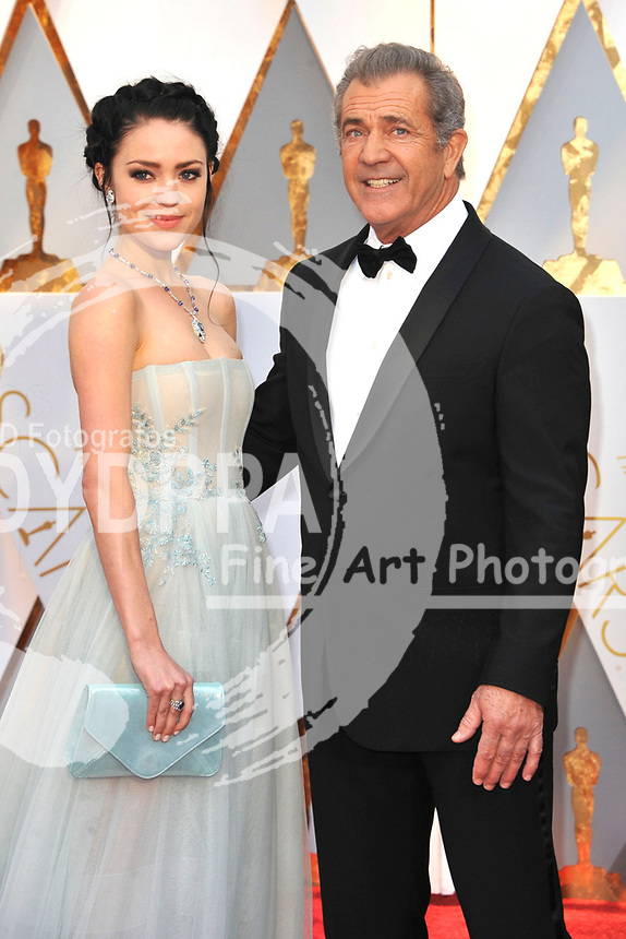 Rosalind Ross and Mel Gibson attend the 89th Annual Academy Awards at Hollywood & Highland Center on February 26, 2017 in Hollywood, California.