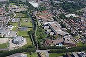 Luchtfoto WaterCampus,  Wetsus, Water Alliance, Van Hall Larenstein, Friese Milieu Federatie en CEW