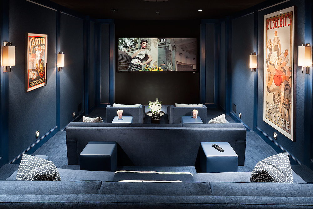 Performance theater includes a Totem 7.2 surround sound system and Sony 4K projector.