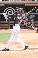 Wisconsin Timber Rattlers shortstop Jake Gatewood (2) at bat during a Midwest League game against the Kane County Cougars on May 16th, 2015 at Fox Cities Stadium in Appleton, Wisconsin.  Kane County defeated Wisconsin 4-2.  (Brad Krause/Four Seam Images)