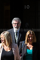 Sinn Fein delegation: Michelle O&rsquo;Neill (Leader in Stormont), Gerry Adams (President), Mary Lou McDonald and Elisha McCalon.<br />
