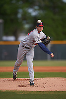 Brevard County Manatees starting pitcher Eric Hanhold (22) during a game against the Lakeland Flying Tigers on April 20, 2016 at Henley Field in Lakeland, Florida.  Lakeland defeated Brevard County 5-2.  (Mike Janes/Four Seam Images)