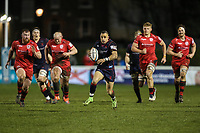 Craig Holland of London Scottish in possession during the Greene King IPA Championship match between London Scottish Football Club and Jersey Reds at Richmond Athletic Ground, Richmond, United Kingdom on 16 March 2018. Photo by David Horn.