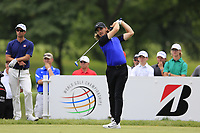 Tommy Fleetwood (ENG) tees off the 3rd tee during Sunday's Final Round of the WGC Bridgestone Invitational 2017 held at Firestone Country Club, Akron, USA. 6th August 2017.<br /> Picture: Eoin Clarke | Golffile<br /> <br /> <br /> All photos usage must carry mandatory copyright credit (&copy; Golffile | Eoin Clarke)