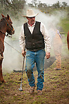 """Stan Dell'Orgo..Cattle marking and branding with the Dell""""Orto family in the Sierra Nevada Foothills of California...**usage by any anti-livestock individual, group, publication, websites, e-mail or anything similar is prohibited."""